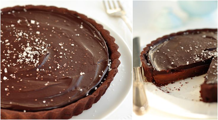 drew loves dark chocolate so this dark chocolate salted caramel tart ...