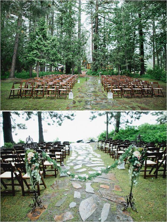 lake tahoe rainy day wedding