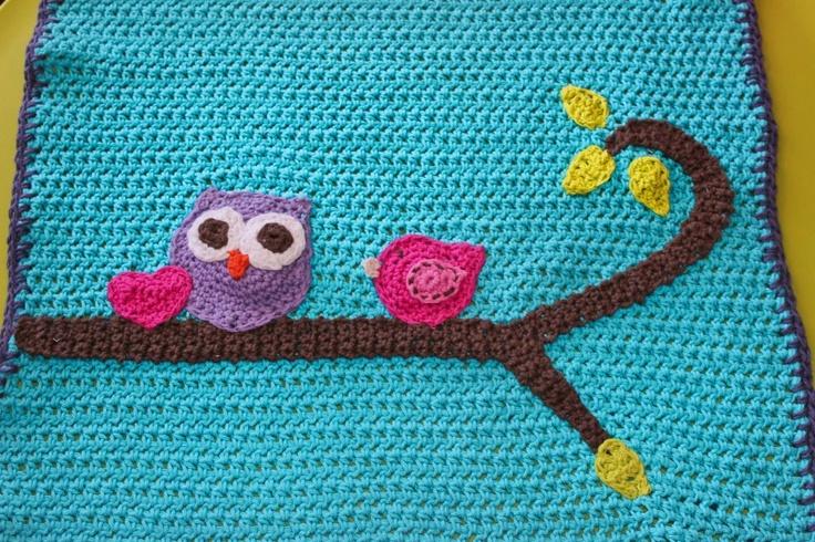 owl baby blanket, baby blanket, owl blanket,  baby afghan, crochet blanket, crochet owl blanket, crochet. $72.95, via Etsy.