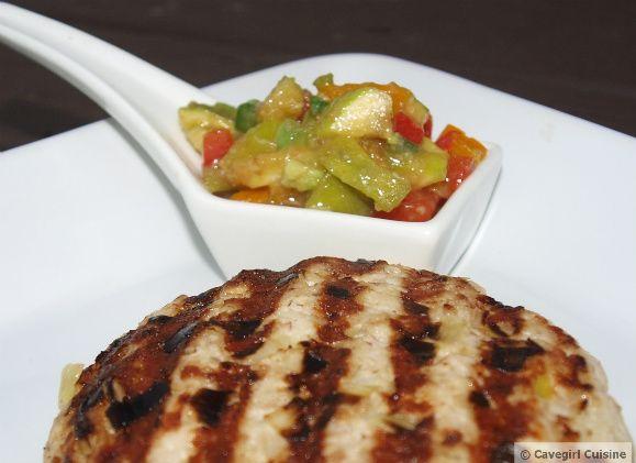 Pork/Turkey Sliders w/ Roasted Red Pepper & Green Fig Relish (sub ...