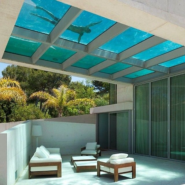 Glass Bottom Swimming Pool Architecture Pinterest