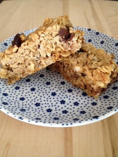 Cherry chocolate almond granola bars. Use almond flour