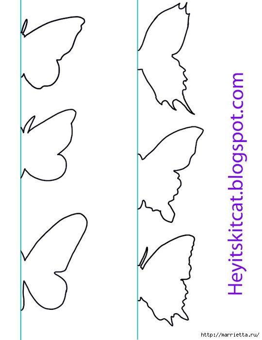 Объемные бабочки на стене своими руками трафареты