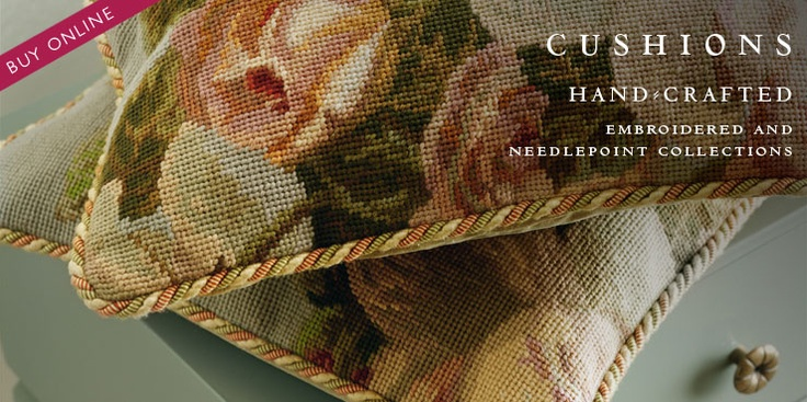 Hand-Crafted Needlepoint Cushions | Gustavian Furniture | Hand ...