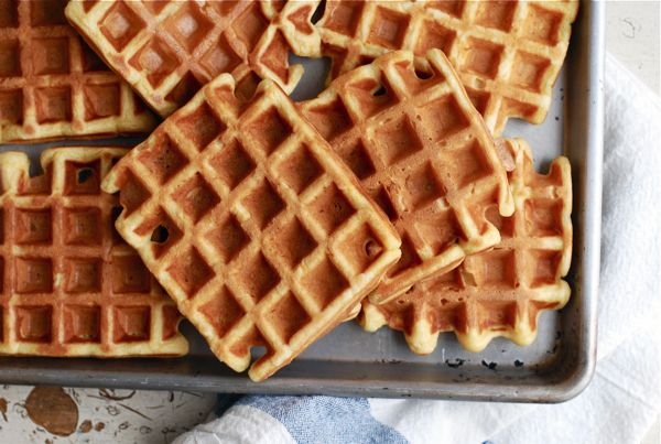 Buttermilk And Brown Butter Waffles Recipe — Dishmaps