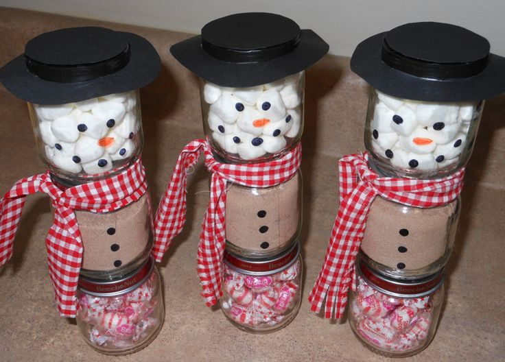 Baby food jar snowmen now i know what to do with all those baby food