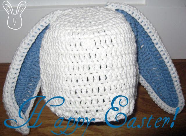 Free Crochet Pattern For Bunny Ears : Floppy Bunny Hat Pattern Yarn Pinterest