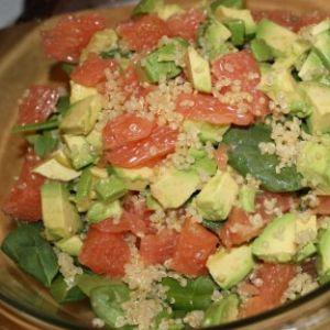 Quinoa Spinach Avocado And Grapefruit Salad - The Olive Tap Recipes