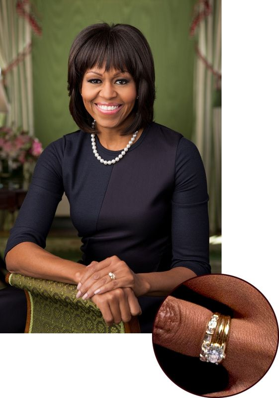 Michelle obama wears the diamond wedding band