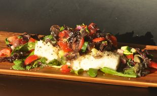 Seared Cod With Peas, Pancetta, And Wilted Lettuce Recipes ...