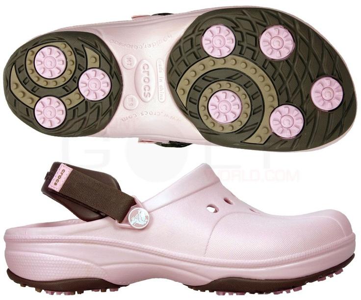 Croc golf shoes...love it