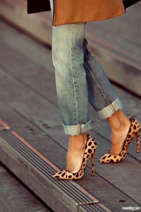 High heels u0026 capri jeans | Heels and jeans | Pinterest