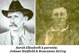 "Sarah Elizabeth McCoy ""Little Sally"" Hatfield (1881 - 1881) - Find A Grave Photos Roseanna McCoy and Johnse   Elizabeth also known as ""the baby with no last name"
