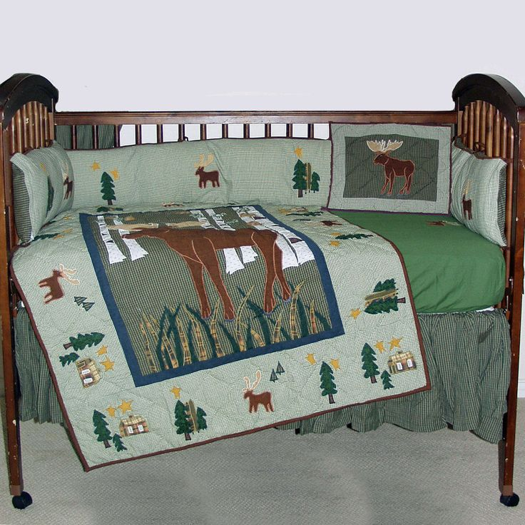 Moose 6 Piece Crib Set Moose 6 Piece Crib Bed...