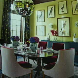 Green Purple And Blue Dining Room Love