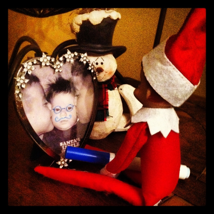 Elf mischief.. | have yourself a merry little Christmas | Pinterest