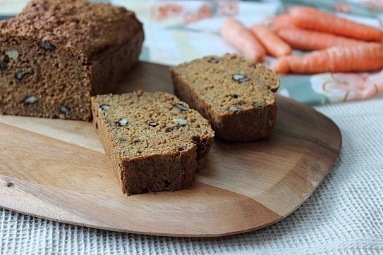 grain vegan carrot cake loaf with lemon glaze vegan lemon glaze whole ...