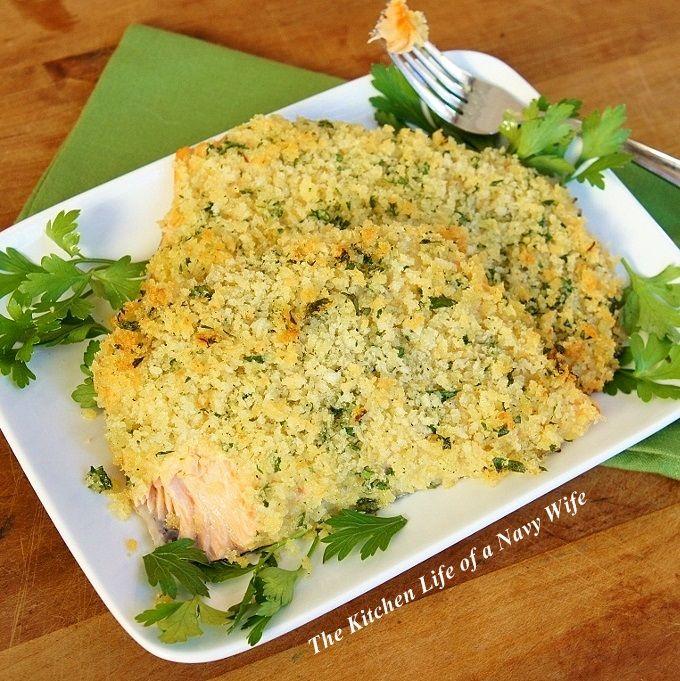 Panko Crusted Salmon | Seafood | Pinterest