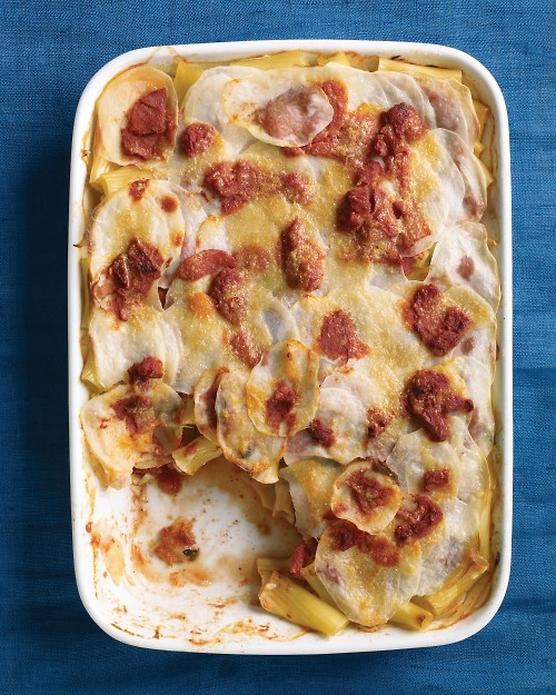Tomato, Pasta, and Potato Bake - We LOVE this. So many variations. Our ...