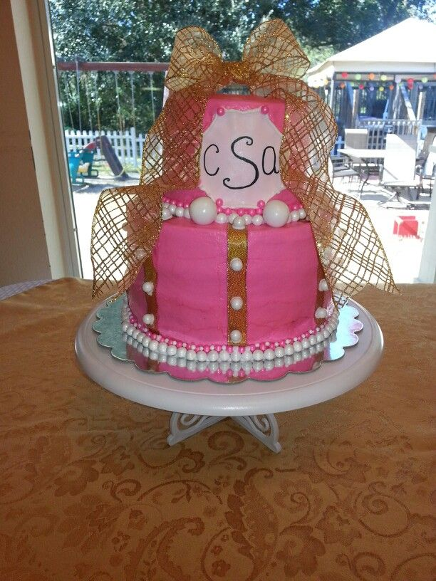 Bridal shower cake I made for my future daughter in law. cakes ...