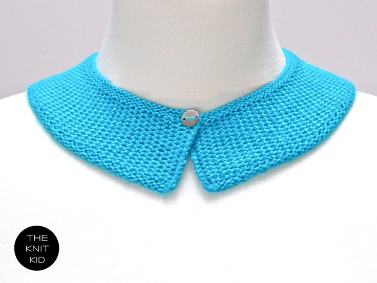 knitted collar neon turquoise blue theknitkid. €29,90, via Etsy.