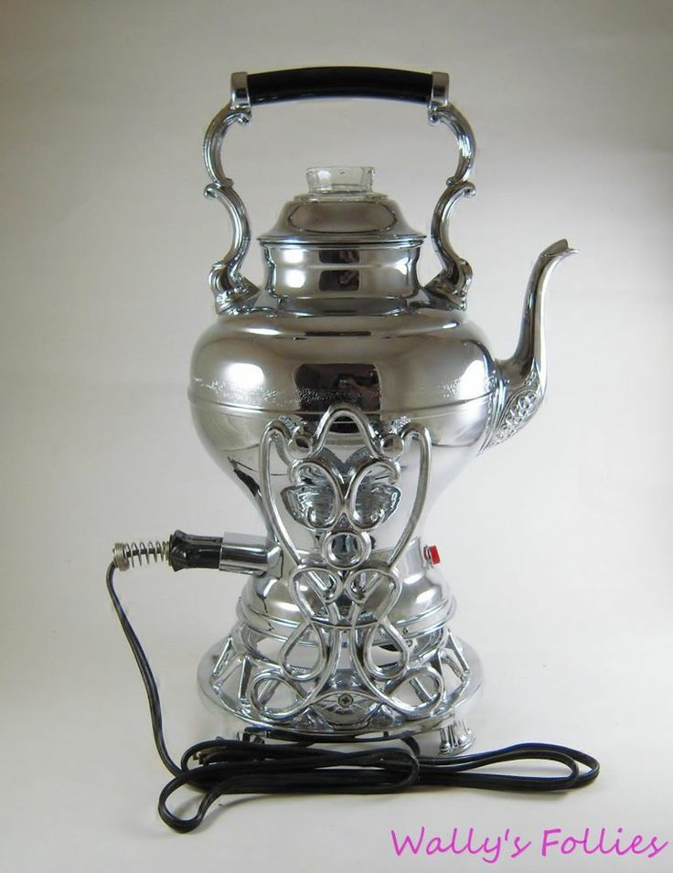 Large Electric Coffee Maker : Elegant Vintage Large UNITED Chrome Electric Coffee Pot Percolator w Pour Stand