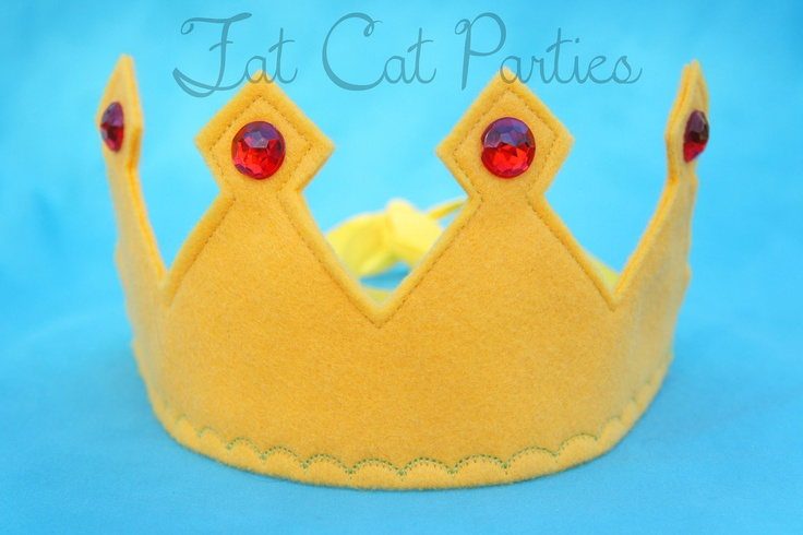 Felt King Crown. $8.00, via Etsy.