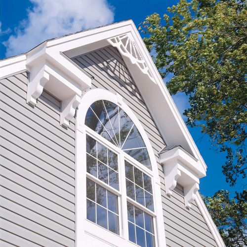 Exterior millwork exterior detail pinterest for Fypon gable trim