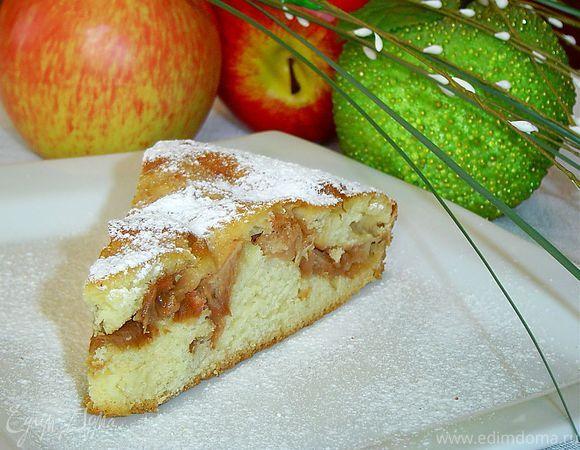Пирог с яблоками на кефире рецепт с фото пошагово в мультиварке