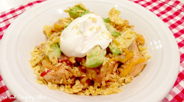 One-Pot Southwest Chicken & Rice...this really east to throw together ...