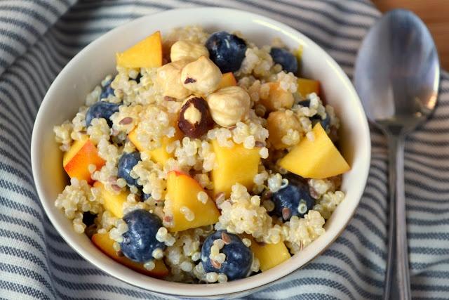 Blueberry Quinoa Breakfast Salad | s a l a d s | Pinterest