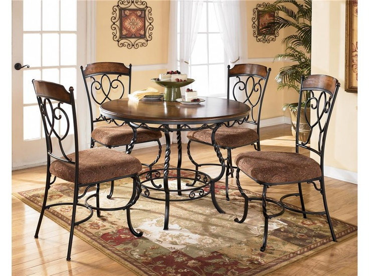 ashley dining room round table w 4 side chairs rta 5 carton d316