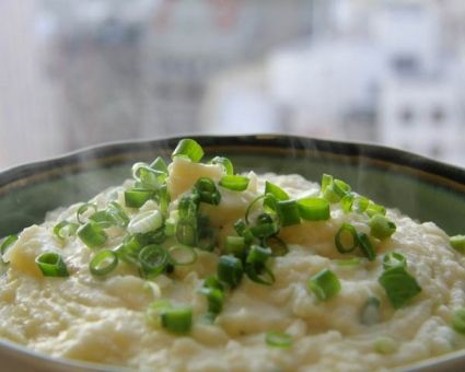 Mashed Potatoes with Scallion Garlic Oil Recipe   The Daily Meal