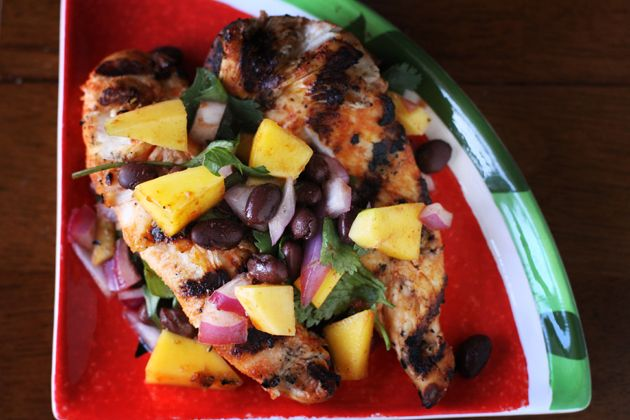 Chicken with a Mango and Black Bean Salsa - 10 Minute Meals — 10 ...