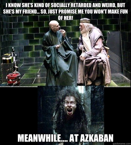 Harry Potter – Mean Girls meme. How do they do it? Works out each time.