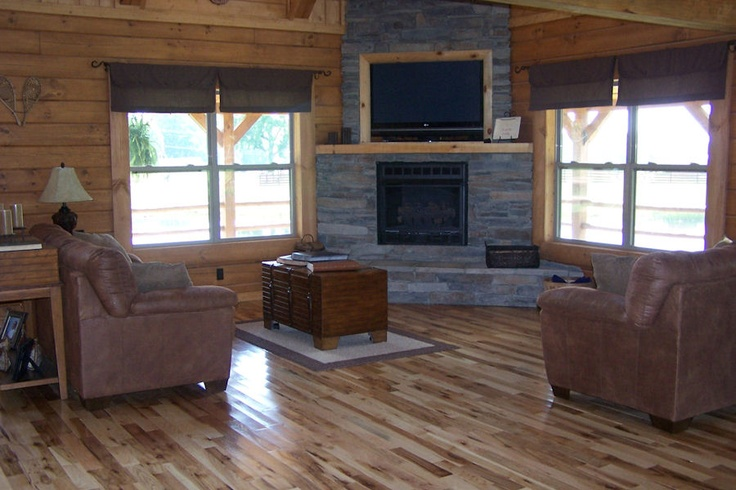 Small cabin living room fireplace living room ideas for Small living room with fireplace