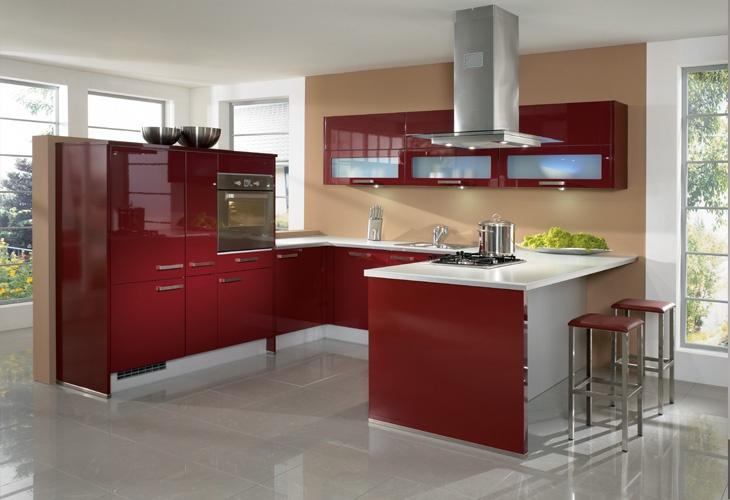 Rote Küche Red kitchen