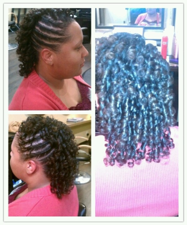 for african american hair pinup updo w flexi rods on fine natural hair ...