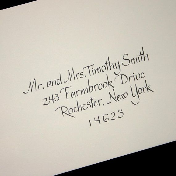 Calligraphy envelope addressing service wedding