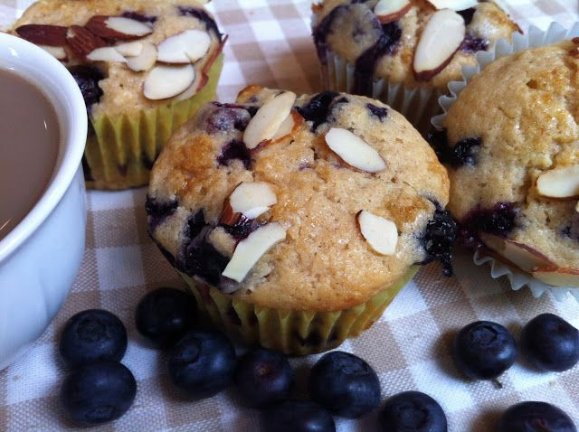 Blueberry, Almond Muffins | Food on Friday: Cherries & Almonds | Pint ...