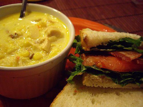 Local BLT Sandwich and Corn Chowder | Columbus Foodie: Visual Recipe ...