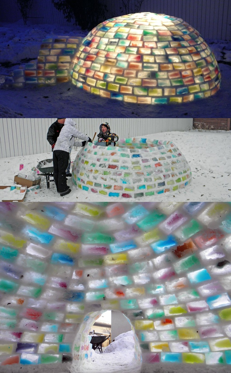 how to build an igloo with ice blocks