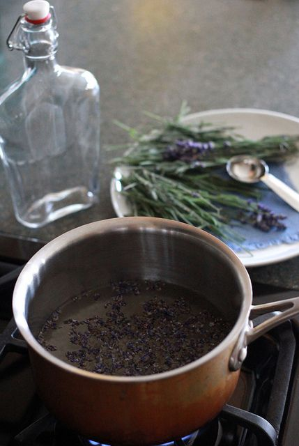 Lavender-infused simple syrup. Super easy to make and can be used in ...