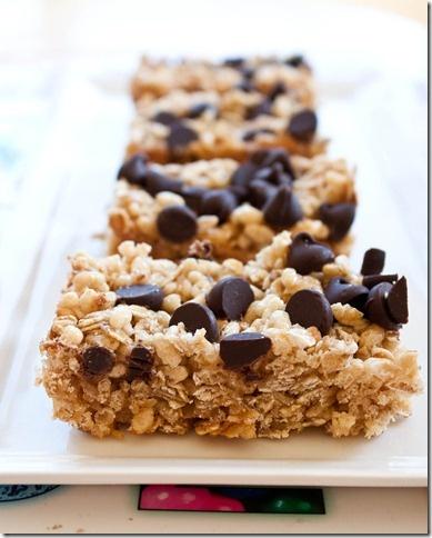 Chewy Chocolate Chip Granola Bars | Sweet | Pinterest
