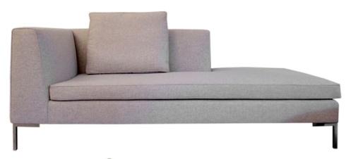 Modern Gray Chaise Lounge Salon Pinterest