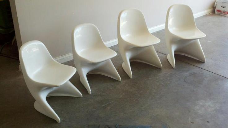 Mid century modern molded plastic casalino childrens chairs fabulous