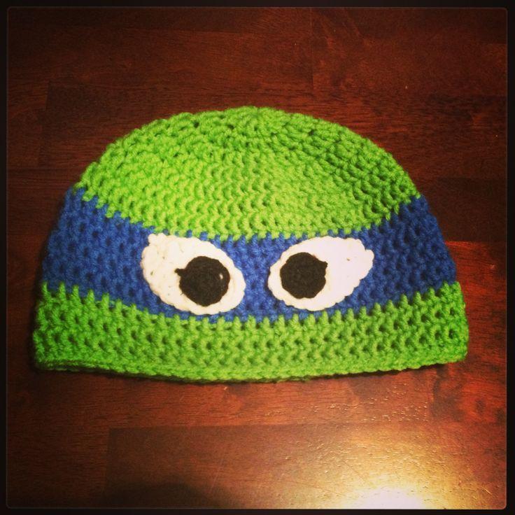 Free Ninja Turtle Crochet Hat