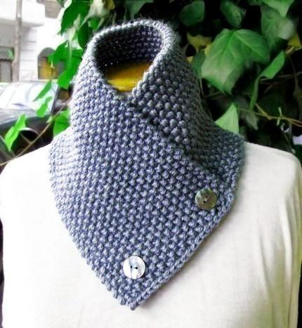 Bandana Cowl Knitting Pattern : Knitting Pattern for knit scarf cowl or neckwarmer n9