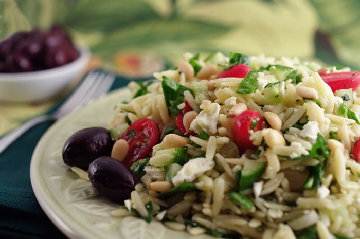orzo super salad orzo and zucchini salad orzo and snap pea salad ...