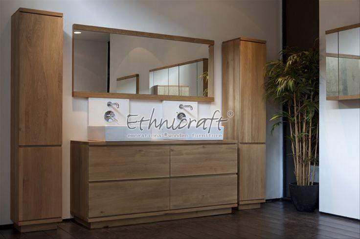 Eiken Badkamer meubel  Badkamers  Pinterest